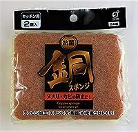 銅スポンジ 2個入 銅の抗菌効果でいつでも清潔!日本製