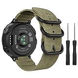 MoKo 腕時計バンド Garmin Forerunner 235用 上質ナイロン織 調節可能 交換用ストラップ Garmin Forerunner 235/220 / 230/620 / 630 / 735XTスマートバンド用