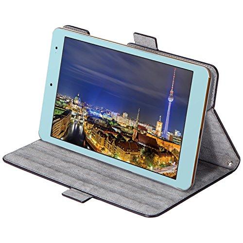 エレコム Qua tab QZ8/フラップカバー/ソフトレザー/360度回転/ブラック TBA-KYH08360BK 1個