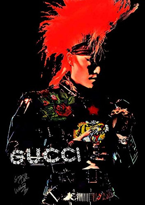 X Japan グッチ A2サイズ ペーパーポスター トシ Toshi Gucci ポップアートポスター STAR DESIGN #wb73