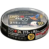 TDK 録画用DVD-R DL(215分) デジタル放送録画対応(CPRM) ホワイトワイドプリンタブル 2-8倍速 日本製 スピンドル10枚パック DR215DPWB10PS