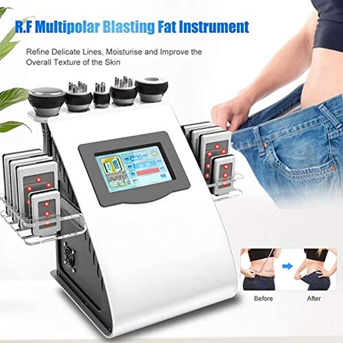 呼吸する失敗シリンダー機械を細くするボディ、1つの多極発破の脂肪質の器械の皮の持ち上がる美機械に付き5つ(US)