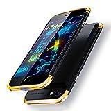 Yoi バッテリーケース iPhone7 plus/iPhone8 plus 共用 5000mAh 充電ケース ケース型バッテリー バッテリー内蔵ケース 5.5インチ用 データ伝送 スリーパーツ式 ケーブル不要 大容量 急速充電 全面保護 軽量 薄型 旅行、観光、出張 BC004 (iPhone 7 plus/iPhone 8 plus, ゴールド)