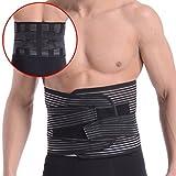 OHMI 3Dボーン内蔵 腰痛 ベルト 腰用 コルセット 腰 サポーター 男性用 女性用 兼用 S~XXL フル メッシュ タイプ (XXL)