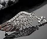 【ビューティーファーム】 高品質 ウイング ブローチ ラペル ピン バッジ バッヂ チャーム 羽 翼 シルバー メンズ レディース アクセサリー (Czダイヤ シルバー ライトウィング)