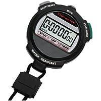 [クレファー]CREPHA デジタルストップウォッチ 3気圧防水 カウントダウン計測 ブラック TEV-4013-BK