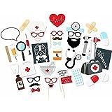 imagitek 40個歯科医看護婦Electrocardiogram CTスキャンパーティー装飾写真ブース小道具誕生日パーティー用品フォトブース小道具