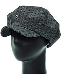 [PLIC N PLOC]EMN02.デニムストライプレトロメンズレディース ベレー帽 鳥打ち帽 ハンチングフラットキャップ