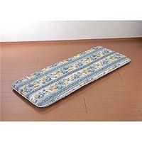 ワイド&ロングごろ寝長座布団 へたりにくい固綿入三層構造 ブルー