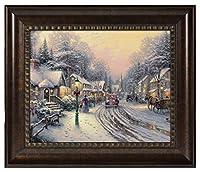 Thomas Kinkade村クリスマス16x 20Brushstroke Vignette 16x20 ブラウン 83223