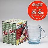 コカ・コーラ×Fire‐King(ファイヤーキング) スタッキングマグ サファイアブルー フィルビー柄 1930-40s