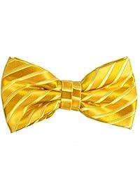 ポール?マローンシルク蝶ネクタイ。ネイビーとゴールド