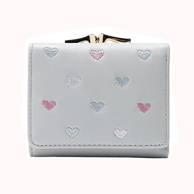 Eldori レディース 3つ折り財布 がま口 レザー 財布 二つ折り 小銭 カード 入れ 多機能 シンプル 上品 優雅