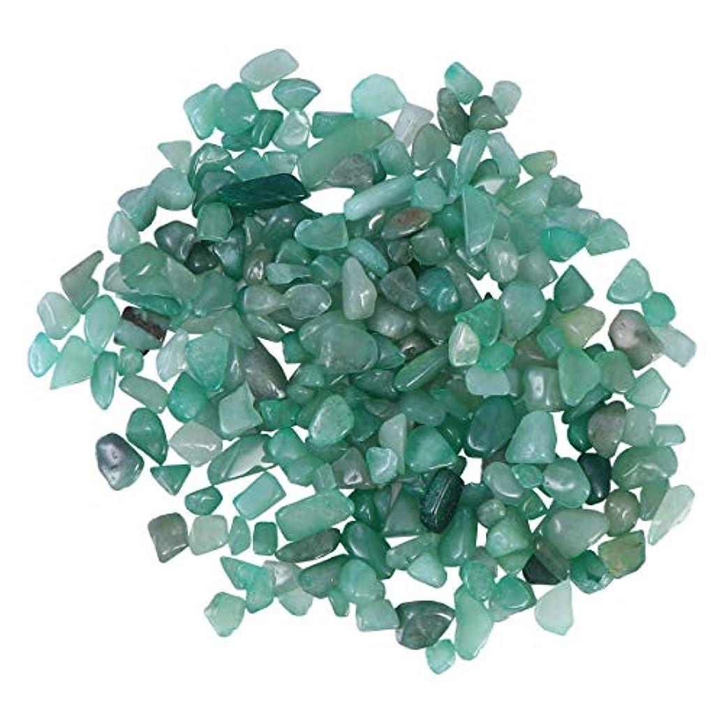 宝石降伏あいさつVosarea 2パック自然砕いたクリスタルロックス不規則な形状のヒーリングストーンズや花瓶植物サワークリーム(アベンチュリン)