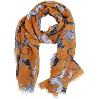 Women Large Scarf Soft Scarves and Wraps Floral Flower Fashion Scarf Pashminas Shawls Scarf for Fall