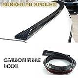 言の葉アンダーリップモール1.5メートルユニバーサル炭素繊維フロントバンパースポイラー、カーボンリップ フロントスポイラーカーガードスポイラー