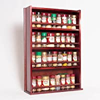 木製スパイスラック–Enclosed Top–4Tiers–木製バー–Store 72Regular Spice and Herb Jars SR-PN-CL-4-STD-DB-WB-TB-DBAL