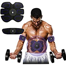 Buydalyhealth Abdominal Trainer Muscle Stimulator Muscle Toner Toning Belts Ab Trainer Waist Trainer Waist Trimmer Belt EMS Training Equipment,Smart Home Fitness Apparatus Unisex Support For Men & Women