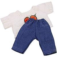 Lovoski 人形 かわいい ニットセーター ジーンズ ズボン 服 18インチ アメリカンガールドール適用