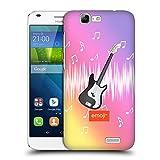 オフィシャル Emoji ギター ミュージック ハードバックケース Huawei Ascend G7