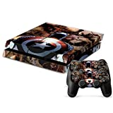 Geek Gamer Think - Face to Face Captain America with Nazi Army in World War II Protective Vinyl Skin Decal Cover for Sony Playstation 4 - PS4 Console & Remote Dualshock 4 Controller Sticker Skins By Patriots N Sun by Geek Gamer Think by Patriots N Sun [並行輸入品]