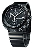Issey Miyake Trapazoid Unisex Quartz Watch with Black Dial Chronograph Display and Black Stainless Steel Strap SILA.. [並行輸..