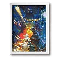God-zi-lla アートフレーム・ポスター アートポスター ポスター 木製 インテリアアート 部屋飾り ウォールアート 壁絵 現代壁の絵