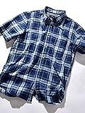 (シップスジェットブルー) SHIPS JET BLUE : 【COOLMAX】リネン チェックシャツ【半袖】 121520088 日本 S-(日本サイズS相当) Blue2