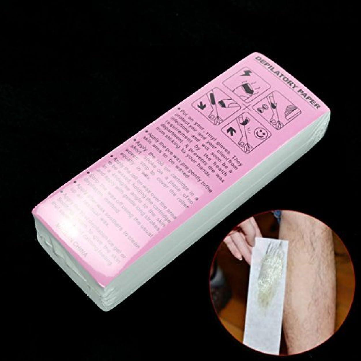 病的衝撃コロニーAKOAK 100 Sheet/Pack Disposable Professional Hair Removal Tool Depilatory Paper Nonwoven Epilator Women Wax Strip...