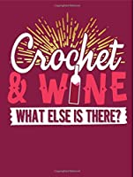 Crochet & Wine Wide Ruled Composition Notebook