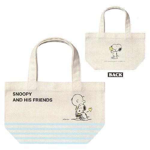 おもちゃ Peanuts ピーナッツ Snoopy スヌーピー and His Friends フレンズ Design Bento Lunch Box Bag Canvas Hand Bag [並行輸入品]