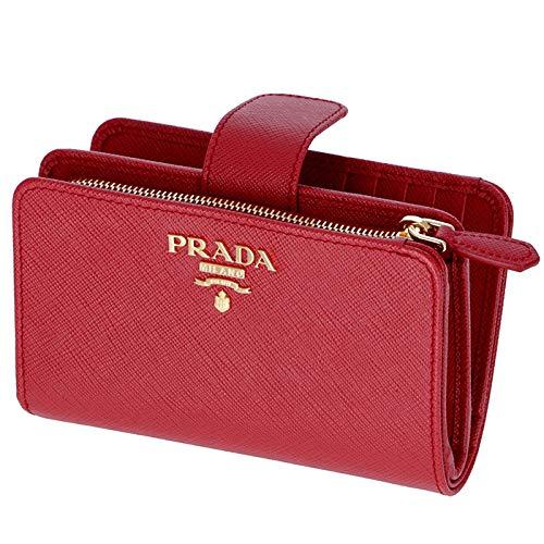 cd2c0c7dcd88 PRADA(プラダ) レディース 型押しカーフスキン 二つ折り財布 1ML225 QWA 68Z [
