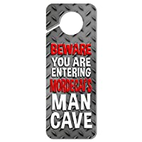 おとこ洞窟邪魔しないでくださいプラスチックドアノブハンガーサイン男性名 Mi-じぶんの - モルデカイ