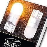 ぶーぶーマテリアル T10 LED 優しく明るい光拡散 ポジションランプ T16 アンバー 無極性 2個
