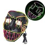 創造的な輝くマスク、大きな鋸歯状のダブルクロスアームマスクハロウィン音楽祭パーティー