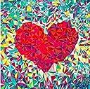 5Dダイヤモンドの絵画 壁の装飾ギフト クロスステッチキットダイヤモンド絵画アートクラフト クリスタルのラインストーンの刺繍の写真 赤い心 30×30CM