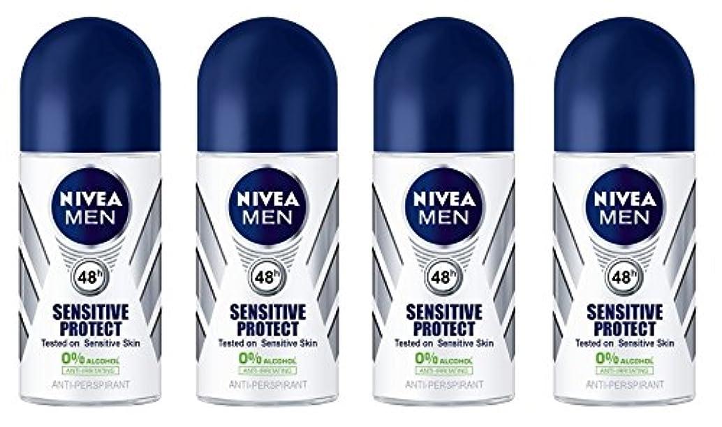 アーサーコナンドイル背が高い回路(Pack of 4) Nivea Sensitive Protect Anti-perspirant Deodorant Roll On for Men 50ml - (4パック) ニベア敏感な保護する制汗剤デオドラントロールオン...