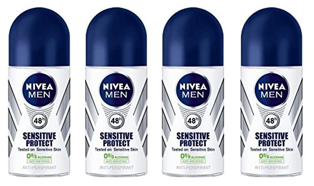 日食インタネットを見る知り合いになる(Pack of 4) Nivea Sensitive Protect Anti-perspirant Deodorant Roll On for Men 50ml - (4パック) ニベア敏感な保護する制汗剤デオドラントロールオン...