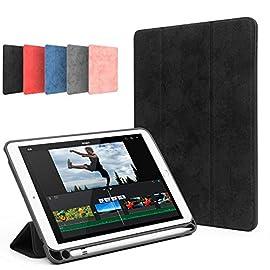 ペンホルダー付き 2019 新型 iPad mini 5 ケース オートスリープ スマートカバー 薄型 レザー 三つ折スタンド 7.9インチ アイパッドミニ5 カバー Apple Pencil アップル ペンシル 収納可能 (iPadmini5, ブルー)