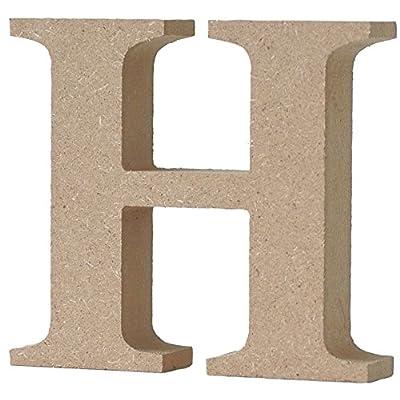 マルカイコーポレーション インテリア オブジェ アルファベット レター 木製 H