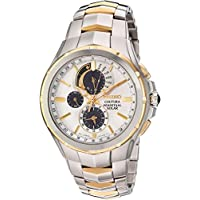Seiko Men's Coutura Japanese-Quartz Watch with Stainless-Steel Strap, Two Tone, 25 (Model: SSC560