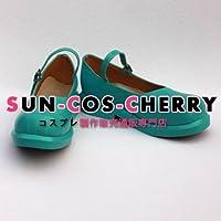 【サイズ選択可】コスプレ靴 ブーツ K-528 VOCALOID ボカロ ボーカロイド 初音ミク 男性25.5CM