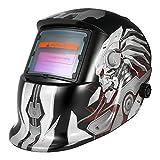 KKmoon 自動遮光溶接面 溶接ヘルメット 溶接マスク 自動フィルター アーク ティグ ミグ 研削 太陽光発電 (6)