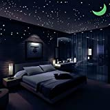 Airbin Glow in The Dark Stars Decals Stickers Pack of 446,408 Stars,1 Moon, 36 Meteor Tail and 1 Constellation Guide,Luminous Stars, Brightest Glowing Stars Decal, Wall Stickers for Kids