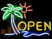 T437 OPEN オープン 南国 ネオン看板 ネオンサイン 広告 店舗用 NEON SIGN アメリカン雑貨 看板 ネ