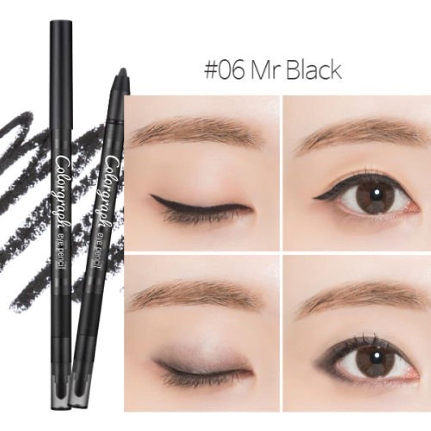 血統口実[New] MISSHA Color Graph Eye Pencil 0.5g/ミシャ カラー グラフ アイペンシル 0.5g (#Mr Black [Matt])