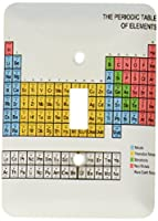 3drose LLC lsp _ 76644_ 1周期表Academic教育科学ファンのギフト化学物理学レッドグリーンブルーイエローSingle切り替えスイッチ