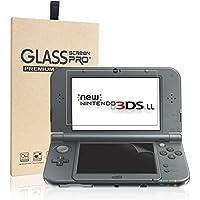 New Nintendo 3DS LL フィルム-NONZERS New 3DS LL 液晶画面保護シート newニンテンドー 3DSLL 用 任天堂 液晶保護フィルム カバー 超薄 光沢 簡単に貼れ 気泡ゼロ(上画面ガラスフィルム+下画面PETフィルム セット)