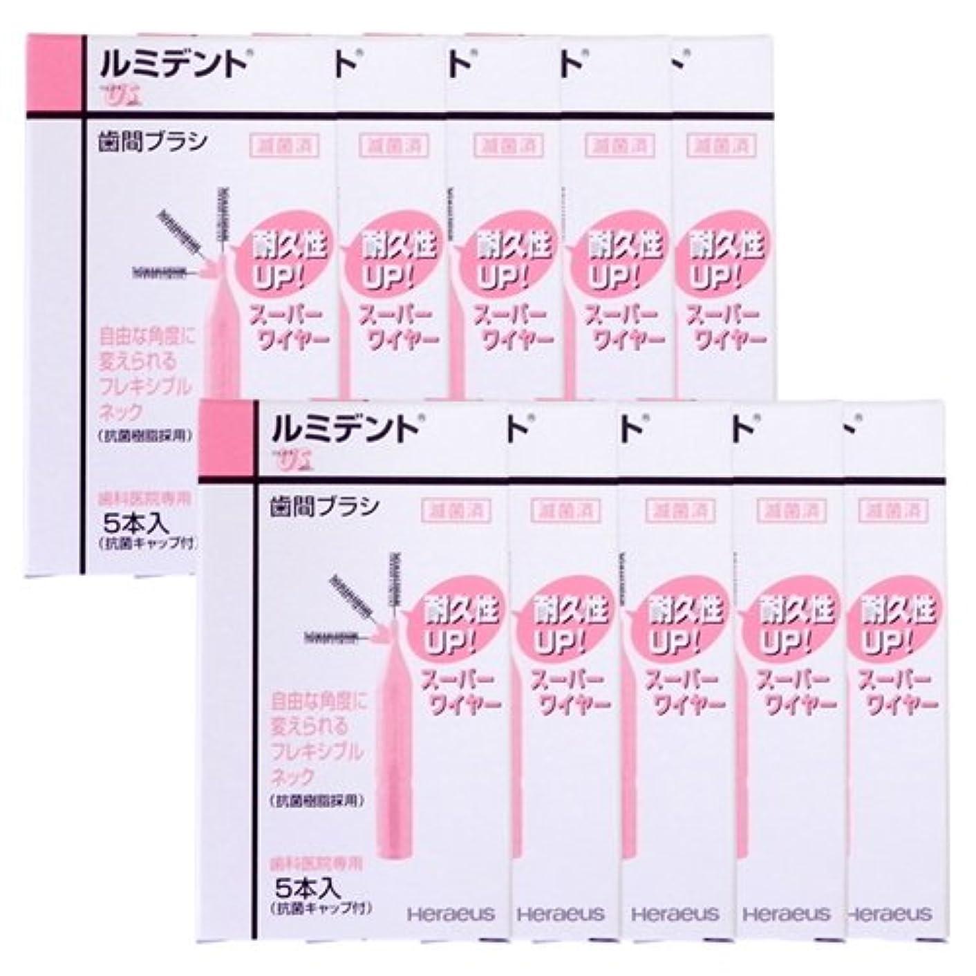 あごひげユーモラスフィクションヘレウス ルミデント 歯間ブラシ 5本入 × 10個 US ピンク