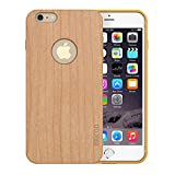 Slicoo iPhone 6・6Sケース 天然木製ケース スマホケース ナチュラルな感じ 取り外しもスムーズ 自然シリーズカバー 4.7インチ iPhone 6・6S対応 (Cherry Wood)